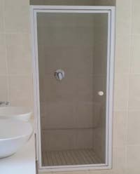 Frames shower pivot door